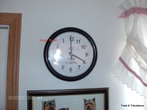 Kelly Booth left handed clock