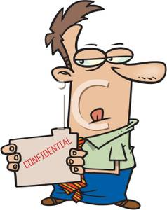 Man with confidential folder