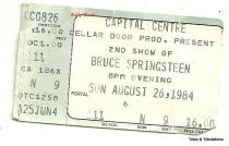 Bruce Springsteen Ticket from 1984