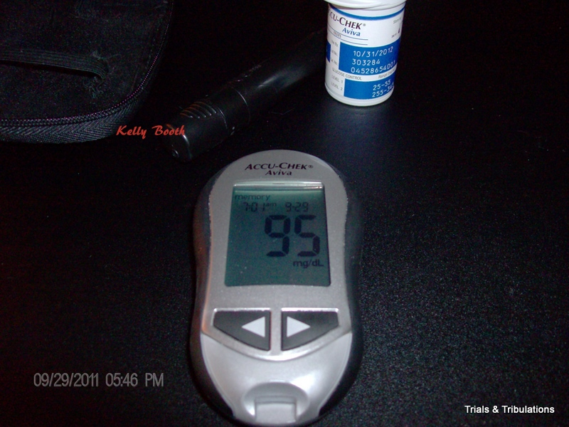 AccuChek Aviva blood sugar of 95