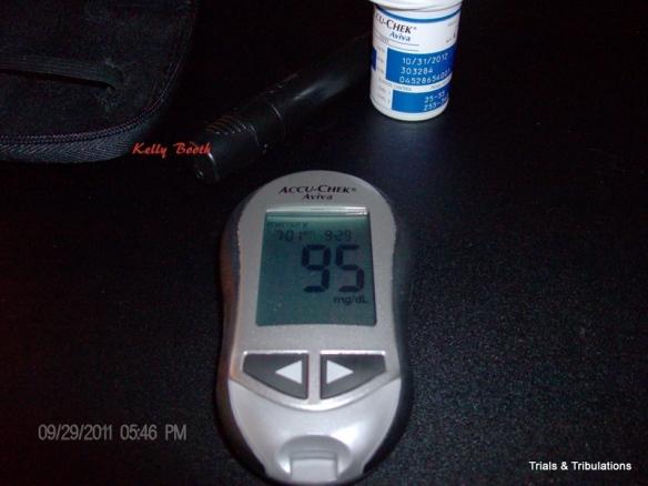 AccuChek Aviva blood sugar of 95