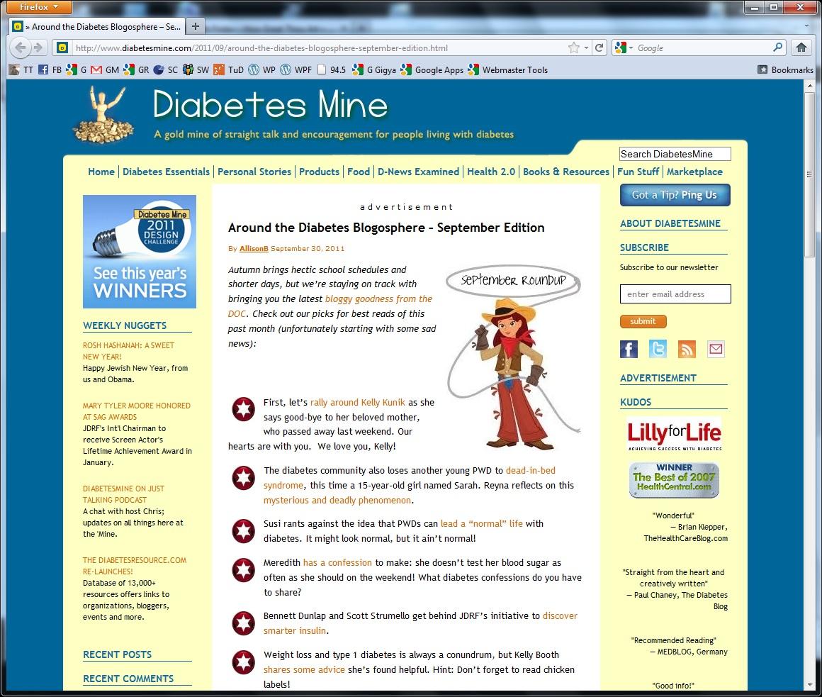 DiabetesMine Best of the Blogs September 2011