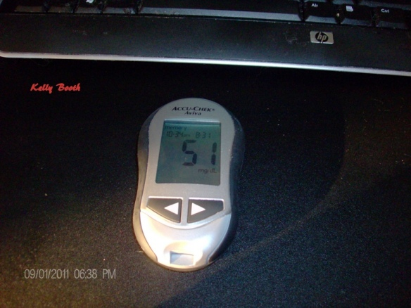 Aviva meter blood sugar of 51