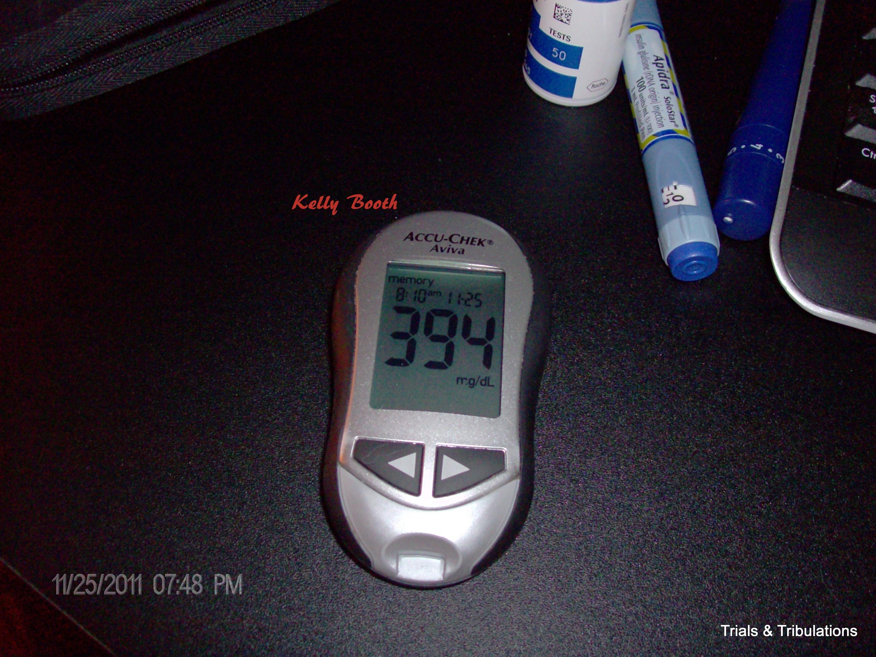 Blood sugar 394