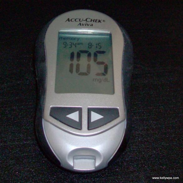 Blood sugar 105