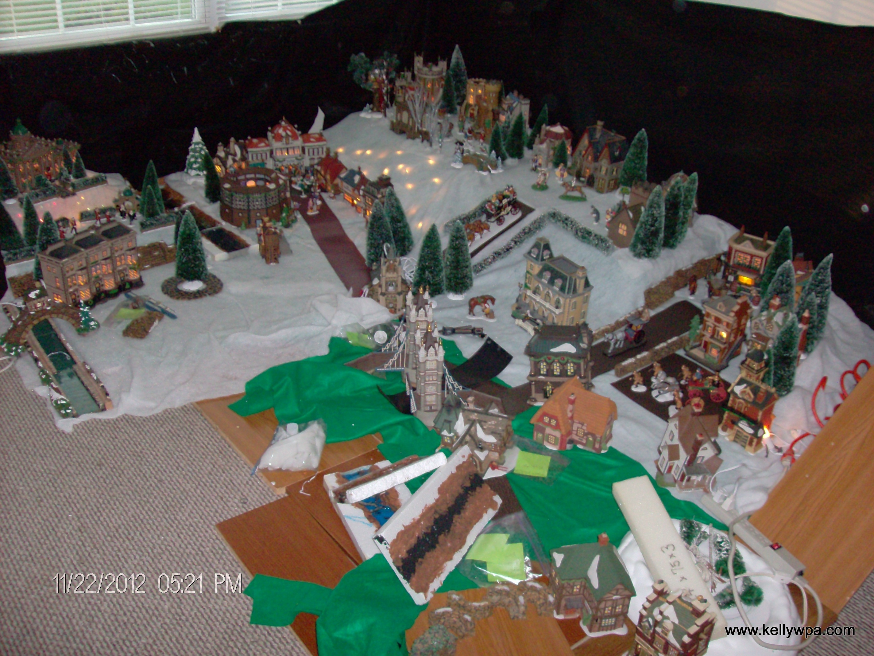 Dickens village in progress